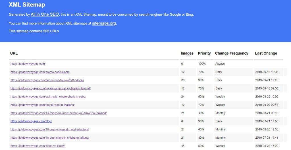 SEO優化完整操作指南:Sitemap範例