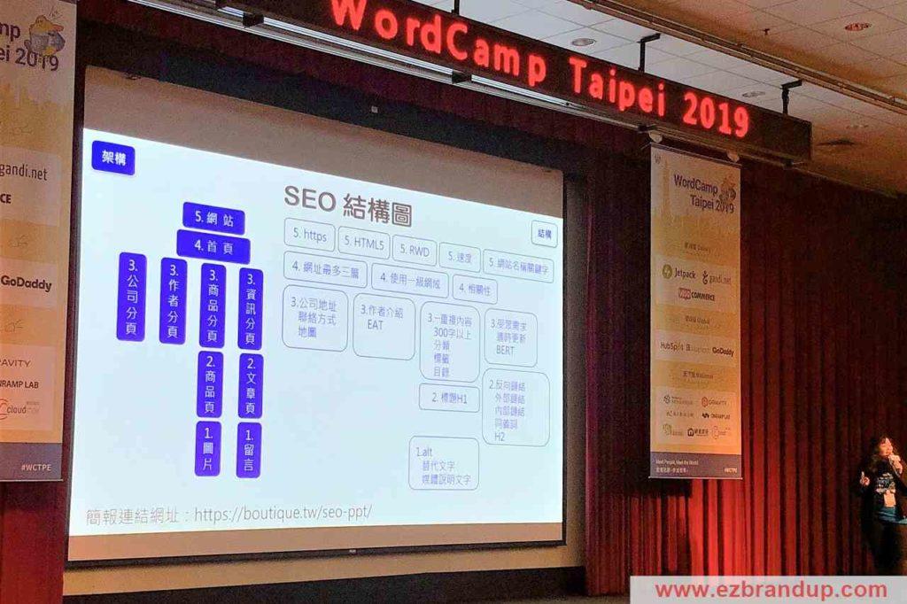 網站經營 & 關鍵字SEO優化相關的議程 WordCamp Taipei 2019|WordPress創作者年度盛會 #WCTPE