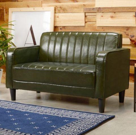 小坪數沙發推薦:H&D東稻 亞莎Asa美式復古風皮沙發